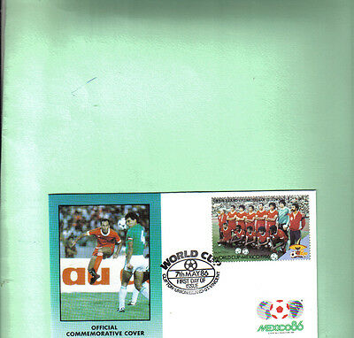 1986 mexico world cup first day cover with morocco team