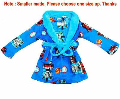 New Sz 2-4 Kids Thomas The Train Winter Dressing Gown Boys Pyjamas Nightie Robe