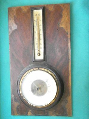 Vintage, wooden barometer and air thermometer/Germany