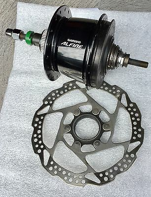 Shimano Alfine 8 Speed Rear Hub with Versa 8 Speed Levers and Shimano Disc Rotor