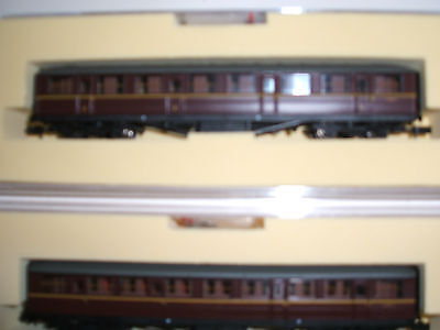 N Gauge Two Farish/bachmann Coaches