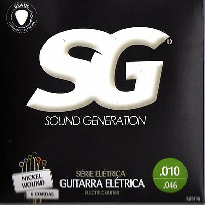 12 sets of SG electric guitar strings from Brazil .010 / .046