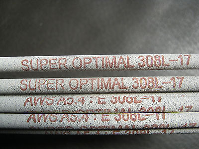 10 x Super Optimal 308L Stainless Steel Welding Rods / Electrodes 2.5mm x 350mm