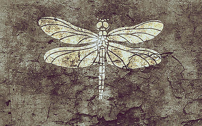 A4 Dragonfly Stencil Shabby Chic Furniture Fabric Vintage MYLAR #DRA