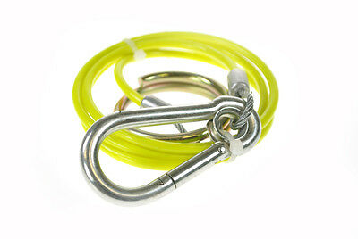 Heavy Duty Hi Viz Fluorescent BREAKAWAY CABLE for Caravans/Boat/Car trailers