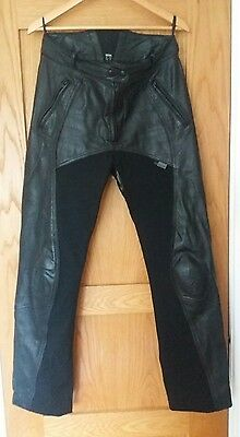 Ladies Richa Freedom leather motorcycle trousers size 16