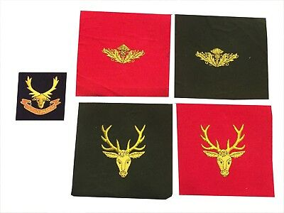 ARMY ARM PATCH (Stag Head/ Thistle) Hand Ebbroidered with Gold bullion Wire