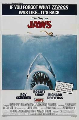 """""""JAWS"""" Movie Poster [Licensed-NEW-USA] 27x40"""" Theater Size (1975) Spielberg"""