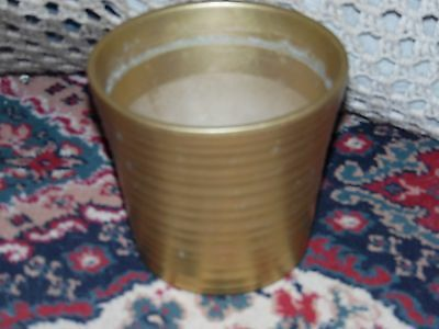Gold plant pot container