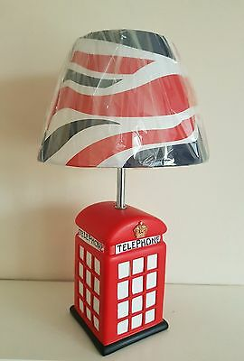 Exclusive Novelty Lamp featuring Telephone Box for Table or Bedside
