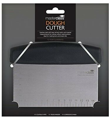 Master Class Stainless Steel Commercial Baker Dough Scraper and Cutter 15 x 7.5
