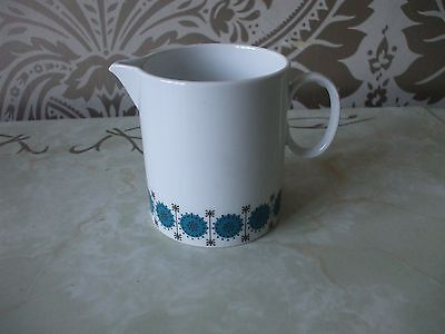 Vintage Retro Thomas China Germany Blue Atomic Style Milk Jug