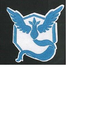 Pokemon Go Mystic logo embroidered iron on patch NEW