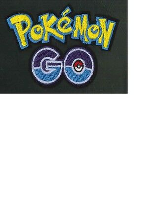 Pokemon Go logo embroidered iron on patch NEW