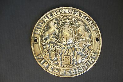 SAFE BRASS PLATE  Antique FREE SHIPPING WORLDWIDE  +(