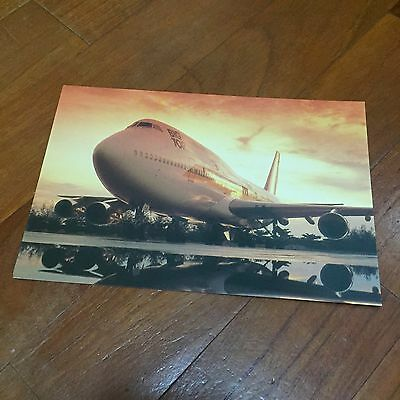 Rare Old 40 anniversary Big Top 747s Singapore Airlines Postcard Type B