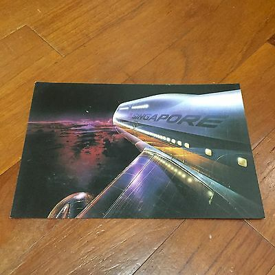 Rare Old Big Top 747 Singapore Airlines Postcard Type B