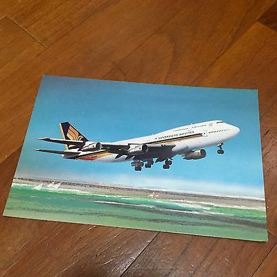 Old Big Top 747 Singapore Airlines Postcard Type 1