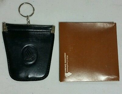 Rare unused Singapore Airlines keychain coin purse mint in pack