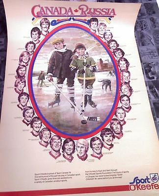 1974  Hockey Canada Poster  Summit Series vs Russia .... FREE SHIPPING