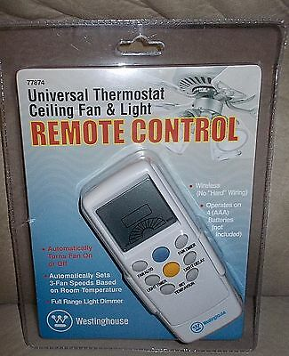 Westinghouse Universal Thermostat Ceiling Fan & Light Remote Control 77874