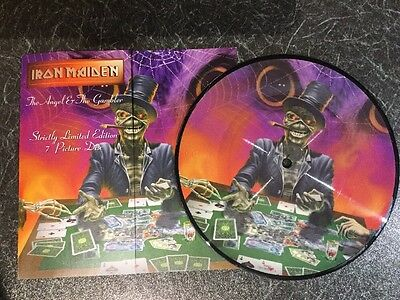 "IRON MAIDEN The Angel & The Gambler - RARE 7"" PICTURE DISC - EMI EM507 1998 - EX"
