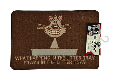 Pet Rebellion Pet Mat - What Happens in the Litter Tray - Cat Litter Tray Mat