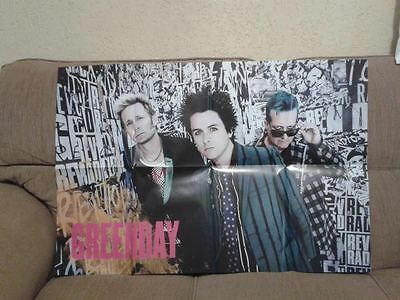 GREEN DAY    Giant Fold Out Poster Magazine 2016 Brazil    Billie Joe Armstrong