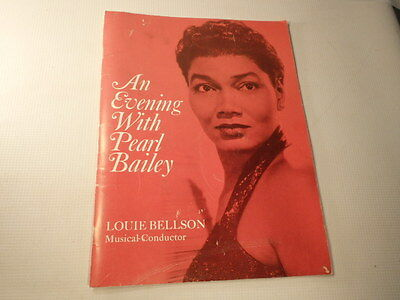 "Vintage 1970's Program ""An Evening With Pearl Bailey"""