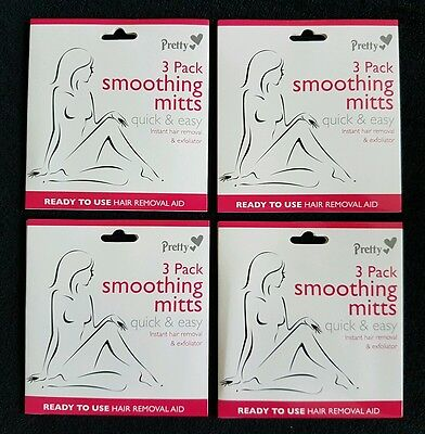 4X Pretty Smooting Mitts - Instant Hair Removal + Exfoliation + Free Postage