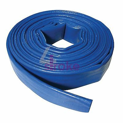 Lay Flat Hose 10M X 40mm Pvc Water Delivery Hose Discharge Pump Irrigation