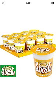Pot Noodle 12 x 90g Full Box Case Original Curry Flavor Flavour - BARGAIN!!!