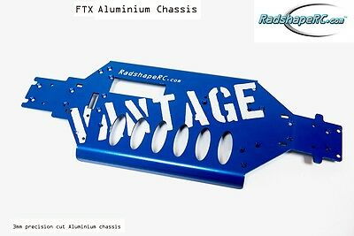 FTX Vantage Aluminium Chassis Upgrade - Blue RADSHAPE RC-3mm Thick
