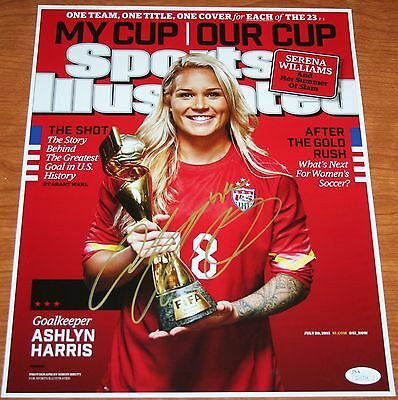 Ashlyn Harris US Soccer Signed Sports Illustrated 11x14 Photo JSA Authenticated