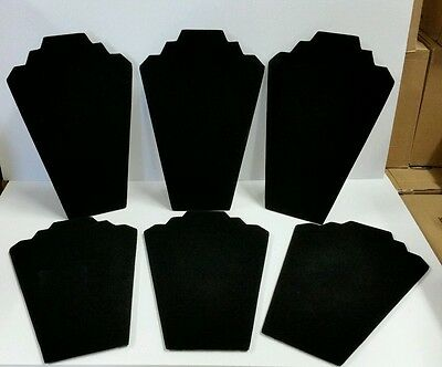 """Black Velvet Necklace Easel Jewelry Displays 12.5""""-Pack of 6"""