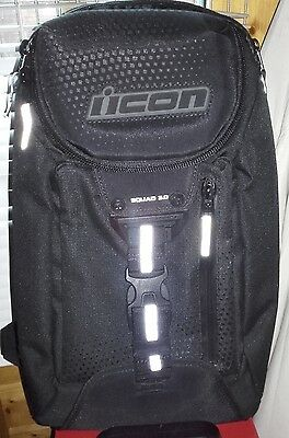 Icon Squad 3 Motorcycle Backpack Black