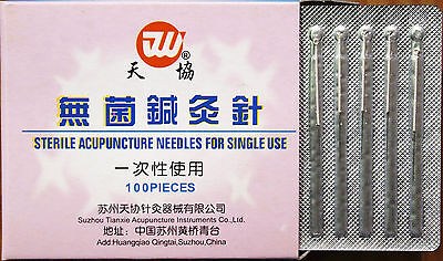 1 Box Acupuncture Needles Without Guide Tube100x13mmx0.20mmx1Boxes