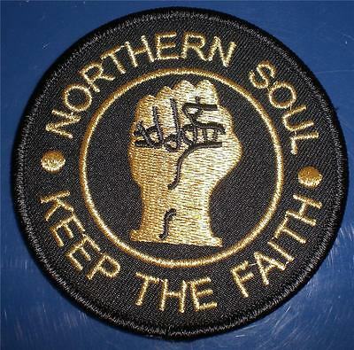Northern Soul Patch - Keep The Faith - Black And Gold - 85Mm Dia