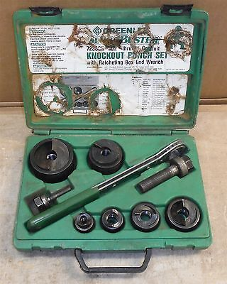 GreenLee 7238SB Knockout Set - Good Used Condition *FREE SHIP rack