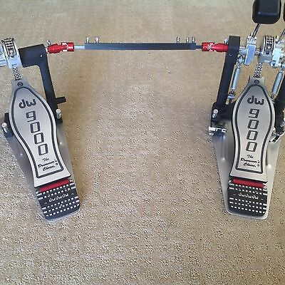 Dw 9000 Double Bass Pedals With Key And Case - Great Pedals!!!