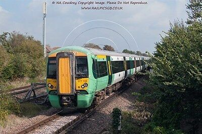 Colour Photo of GTR Southern Class 377 EMU 377108 at West Worthing 2015