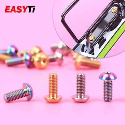 M5x12mm Titanium Bicycle Water Bottle Cage Bolt Bicycle Bottle Holder Screw TCIJ