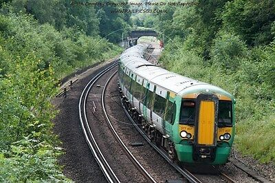 Colour Photo of GTR Southern Class 377 EMU 377407 at Balcombe 2016