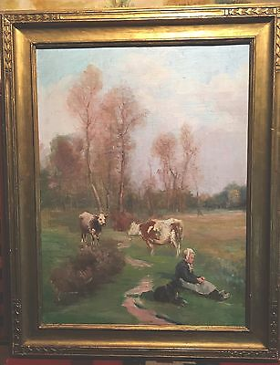 American Paintings- Outstanding Painting By Listed Artist Ellen Starbuck-antique