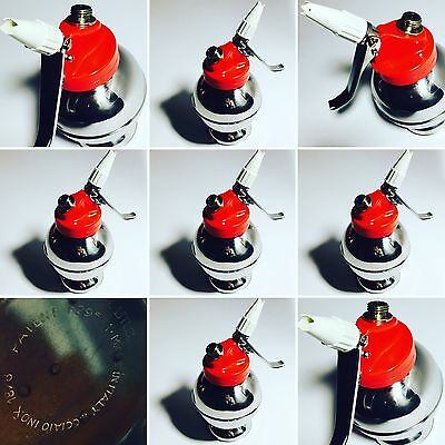 SIFONE PER PANNA Vintage CIMA ANNI 70 PAN SYPHON Rosso Made in Italy ������
