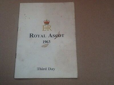 1963 Royal Ascot Race Card The Gold Cup Won By Twilight Alley & Lester Piggott