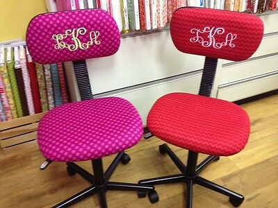 Girls Personalized Monogrammed Desk Chair