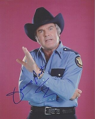 """Signed Original Color Photo of James Best of """"The Dukes of Hazzard"""""""