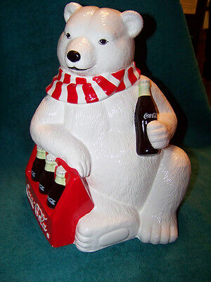 Coca Cola Polar Bear With 6 Pack Bottle Cokes Limited Edition 1998 New In Box
