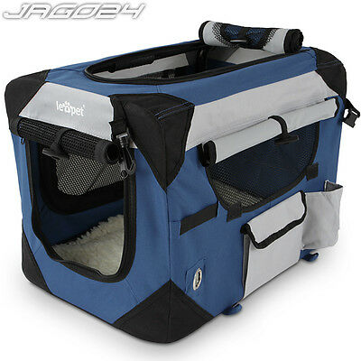 Foldable Dog Puppy Cat Fabric Portable Carrier Transport Box Pet Travel Crate S